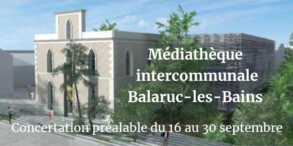 Médiathèque Balaruc-les-Bains : avis de concertation préalable