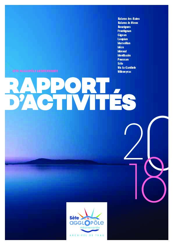 Rapport Activités  2018 de Sète agglopôle méditerranée.pdf