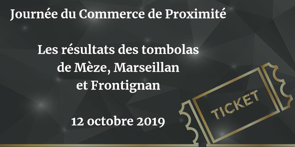 Résultats Tombolas JNCP 12 OCTOBRE 2019