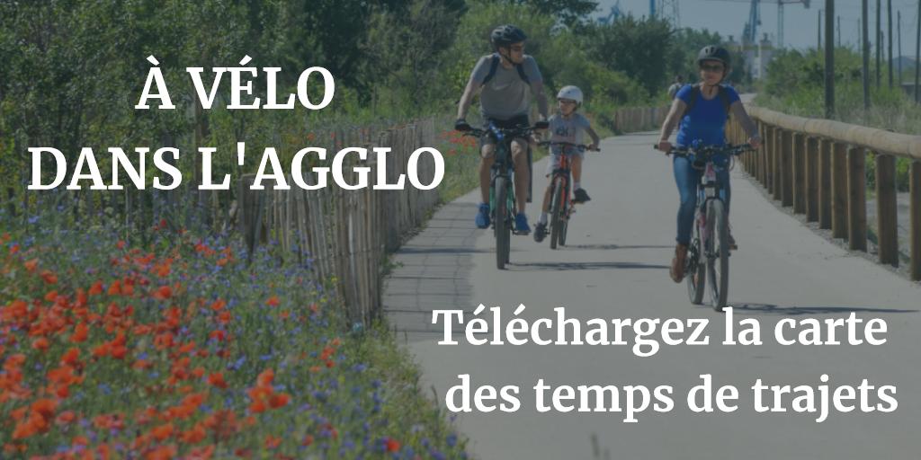Vélo : carte des temps de trajets
