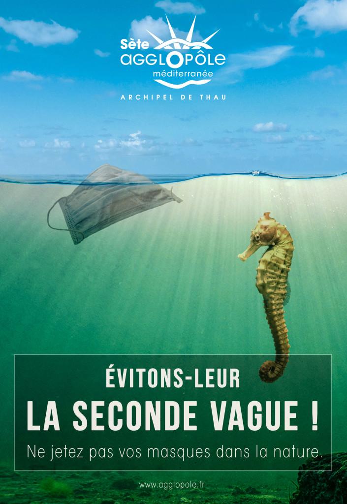 Campagne communication «Ne jetez pas vos masques dans la nature» Visuel 1