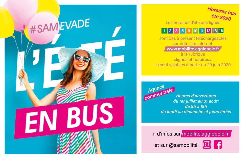 Lignes bus en mode estival